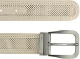 Moreschi Men's Beige Perforated Leather Belt