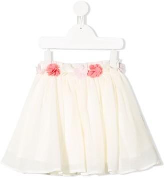 Lili Gaufrette Floral Embroidered Mini Skirt