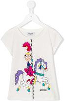 Moschino Kids - carousel print T-shirt - kids - Cotton/Spandex/Elastane - 5 yrs