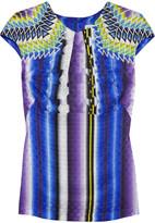 Peter Pilotto Ten printed silk-jacquard top