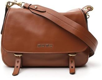 Miu Miu Logo Plaque Satchel Bag