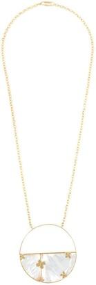 Aurelie Bidermann 'Bianca' reversible mirror necklace
