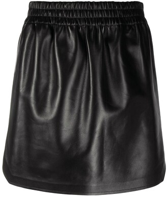 Bottega Veneta High-Waist Lambskin Mini Skirt