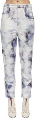 Isabel Marant Eloisa Tie Dye Straight Leg Denim Jeans