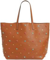RED Valentino Multicolor Stars Leather Tote Bag