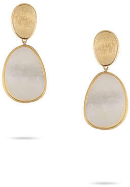 Marco Bicego Lunaria Small Mother-of-Pearl Drop Earrings in 18K Gold