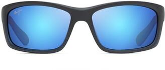Maui Jim Sunglasses | Kanaio Coast 766 | Wrap Frame Polarized Lenses with Patented PolarizedPlus2 Lens Technology