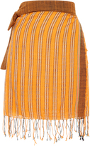 A Peace Treaty Pele Striped Fringe Wrap Skirt