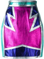 DSQUARED2 metallic panelled skirt