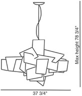 Foscarini Big Bang Chandelier in White - Open Box