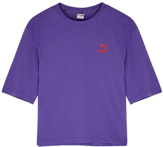Puma Purple Logo Cotton-blend T-shirt