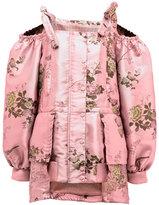 FENTY® PUMA® by Rihanna Floral Cold-Shoulder Peplum Coat, Pink