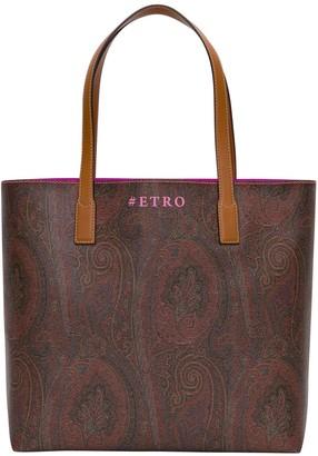 Etro Shopper Bag With Paisley Print