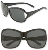 Cutout Square Frame Sunglasses with Arrow Temples