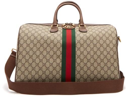 Gucci Ophidia Gg Supreme Logo Weekend Bag - Womens - Grey Multi