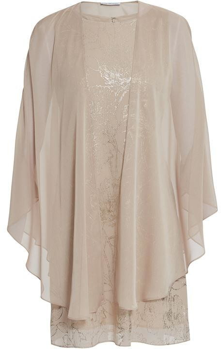Thumbnail for your product : Gina Bacconi Berkley Floral Dress And Chiffon Cape
