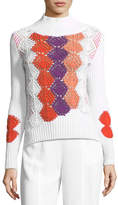 Peter Pilotto Crocheted Mock-Neck Sweater
