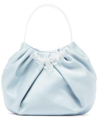 Simone Rocha Crystal-embellished Satin Handbag - Blue