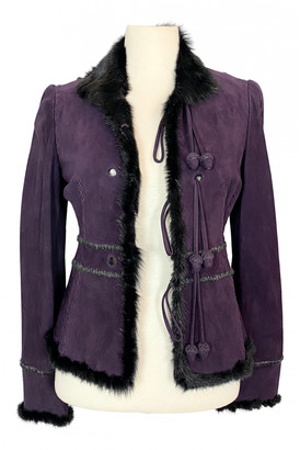 Saint Laurent Purple Leather Leather jackets