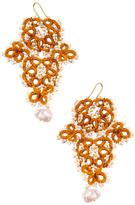 Vessel Gold Tatting Earrings