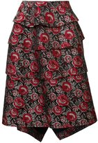 Comme des Garcons floral jacquard skirt - women - Acrylic/Polyester/Wool - M