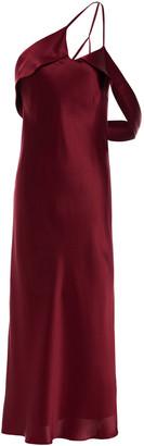 Mason by Michelle Mason One-shoulder Open-back Silk-charmeuse Midi Dress