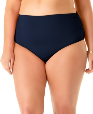 Anne Cole Plus Size High-Waist Bikini Bottoms Women's Swimsuit