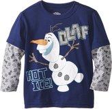 Disney Frozen Little Boys' Toddler Olaf Hot Ice Pattern Long Sleeve Two-Er