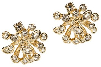 Alexis Bittar 10K Goldplated & Crystal Burst Stud Earrings