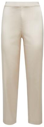 St. John Wide-Leg Cropped Trousers