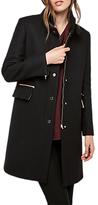 Gerard Darel Gigi Longline Buttoned Coat, Black