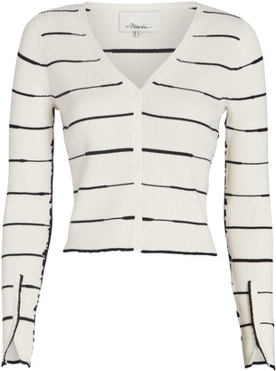 3.1 Phillip Lim Striped Rib Knit Cardigan