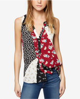 Sanctuary Patchwork-Print Top