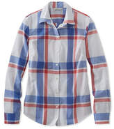 L.L. Bean Signature Essential Button-Front Shirt, Plaid