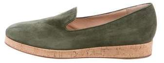 Gianvito Rossi Suede Round-Toe Loafers