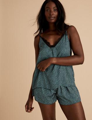Marks and Spencer Satin Printed Pyjama Shorts