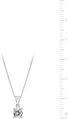 Sylvia Created Brilliance 9ct White Gold 0.50ct Lab Grown Diamond Solitaire Pendant Necklace