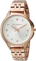 Karl Lagerfeld Women's 'Karoline' Quartz Stainless Steel Casual Watch, Color:-Toned (Model: KL3011)