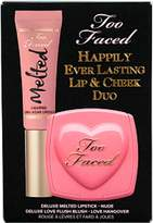 Too Faced Happily Ever Lasting Lip & Cheek Duo-Nude Melted Lipstick-Love Hangover Love Flush Blush