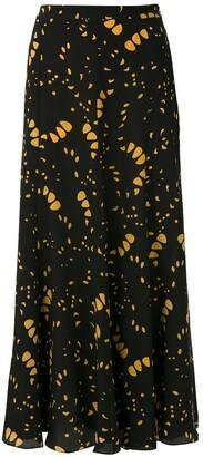 Andrea Marques Silk Midi Skirt