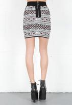 Torn By Ronny Kobo Celine Tribal Jacquard Skirt -