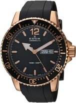 Edox Men's 'Chronorally-S' Quartz Stainless Steel and Rubber Sport Watch, Color:Black (Model: 84300 37RC NBR)