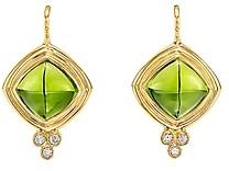 Temple St. Clair 18K Yellow Gold Classic Collina Peridot & Diamond Drop Earrings