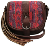 Neon Red Geometric Mini Saddle Crossbody Bag