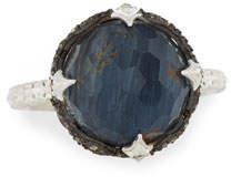 Armenta New World Round Pietersite Doublet Ring with Diamonds