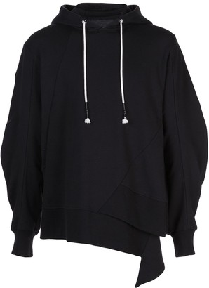 Mostly Heard Rarely Seen staggered hem hoodie