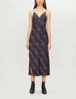 AllSaints Melody Spirit floral-print crepe midi dress