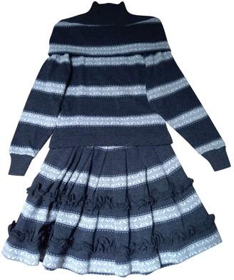 Byblos Grey Wool Dress for Women Vintage