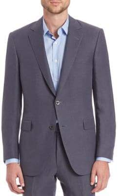Saks Fifth Avenue COLLECTION BY SAMUELSOHN Classic-Fit Linen & Silk Sportcoat