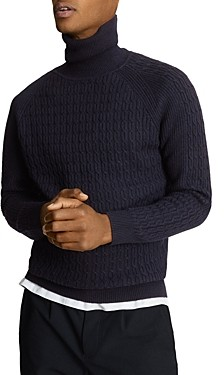 Reiss Cable Roll Neck Sweater
